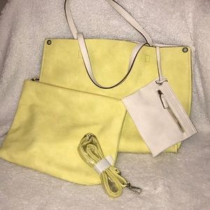 Light summer yellow 4 piece tote !